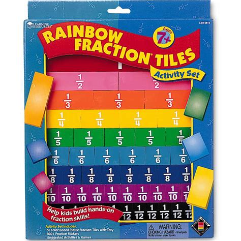rainbow fraction 174 tiles learning resources 174