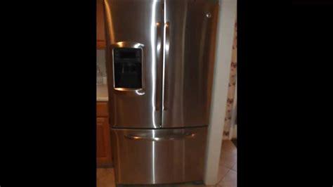 ge bottom freezer refridgerator fix evaporator coil drain model gfsskkx youtube