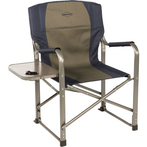 chair with side table kamp rite folding director 39 s chair with side table cc105 b h