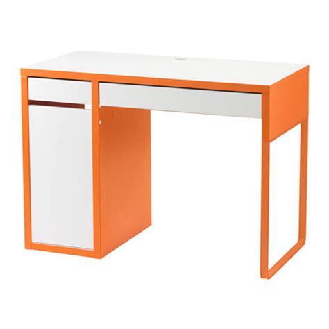 micke desk with integrated storage white pink micke desk white orange ikea