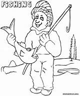 Fishing Coloring Pages Fishing2 sketch template
