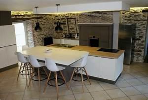 Cuisine Avec Ilot : 31 unique photographie de cuisine ouverte avec ilot ~ Melissatoandfro.com Idées de Décoration