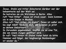 Jesus Stalin und Hitler schwarzer Humor