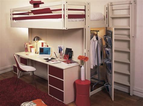 lit mezzanine avec bureau int r bureaux 5 idées astucieuses pour gagner de la place