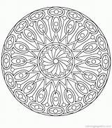 Coloring Complex Printable Mandala Abstract sketch template