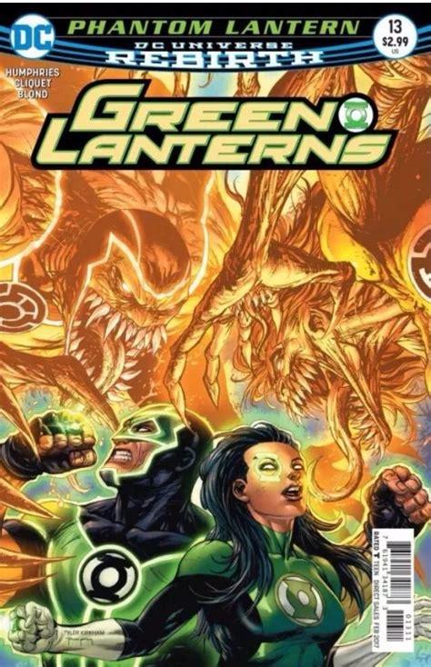 green lanterns 13 rebirth 2016 vf nm dc scarce piranha comics