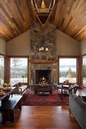 mountain home interiors small mountain home mountain architects hendricks architecture idaho