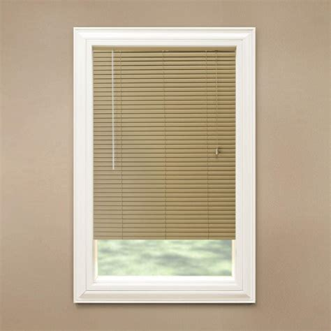 Mini Blinds by Hton Bay Khaki 1 3 8 In Room Darkening Vinyl Mini