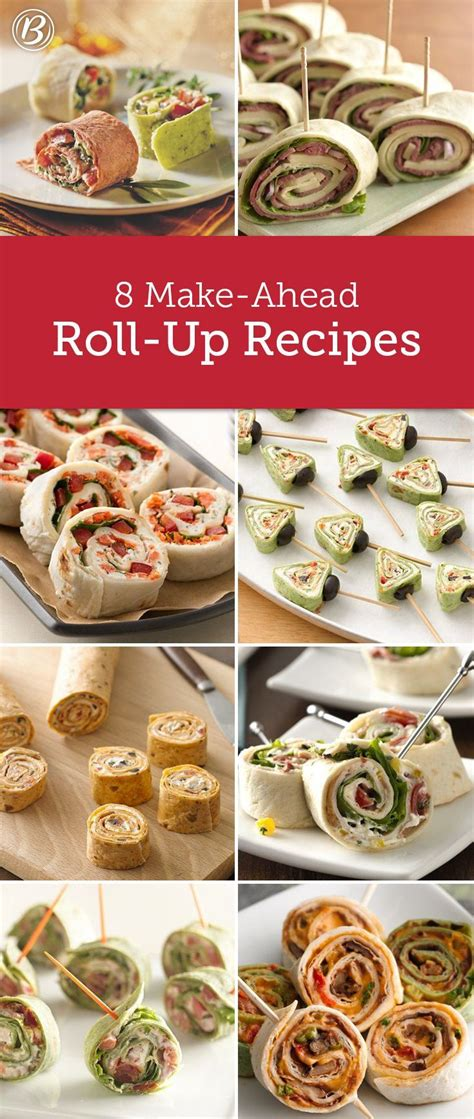 make ahead food gift 8 easy roll up recipes