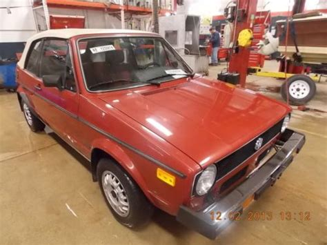 Purchase Used 1982 Volkswagen Rabbit Convertible Karman