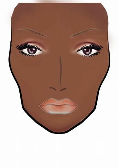 Face Mac Blank Chart Charts Makeup Dark