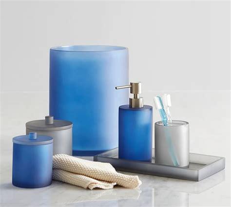 serra mix and match bath accessories navy blue pottery