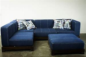 sectional sofa design brilliant choice for denim With denim sofa bed