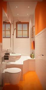 Salle De Bain Orange : petite salle de bains avec wc 55 id es de meubles et d co ~ Preciouscoupons.com Idées de Décoration