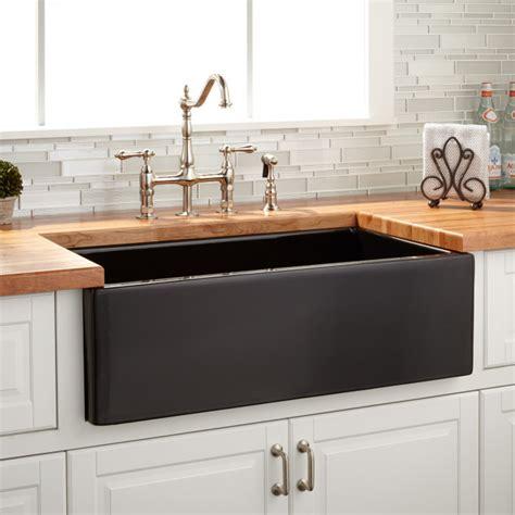 foundation kitchen sink 33 quot grigham reversible farmhouse sink black kitchen 1049