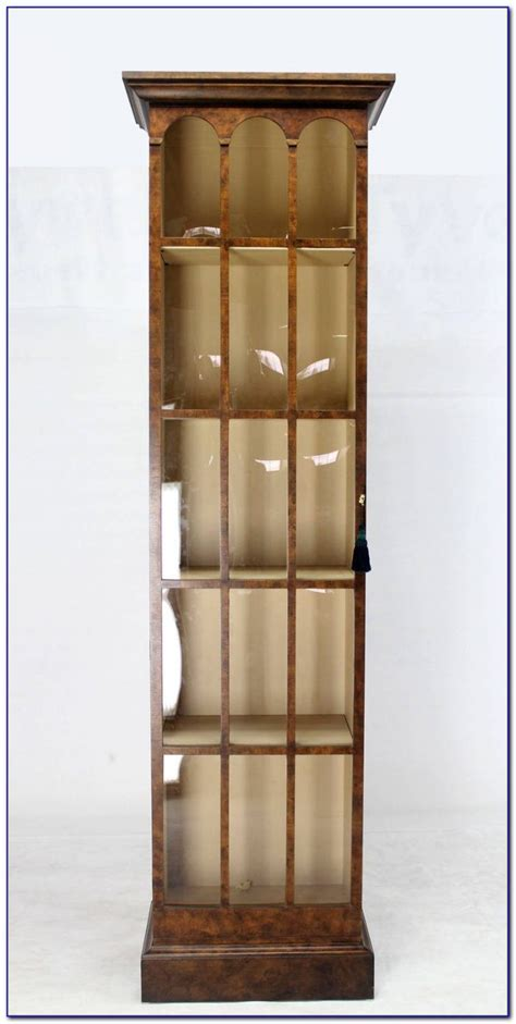 Tall Narrow Bookcase With Doors  Bookcase  Home Design