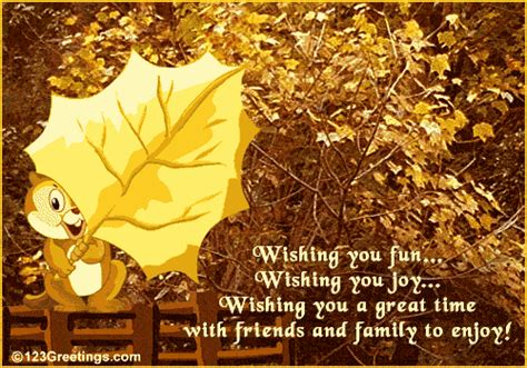 wishing   great time  happy autumn ecards