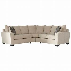 benchcraft wixon 2 piece corner sectional with rounded With sectional sofas rounded corner