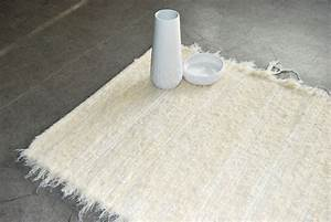tapis de salle de bain design contemporain fibres recyclees With tapis de salle de bain design