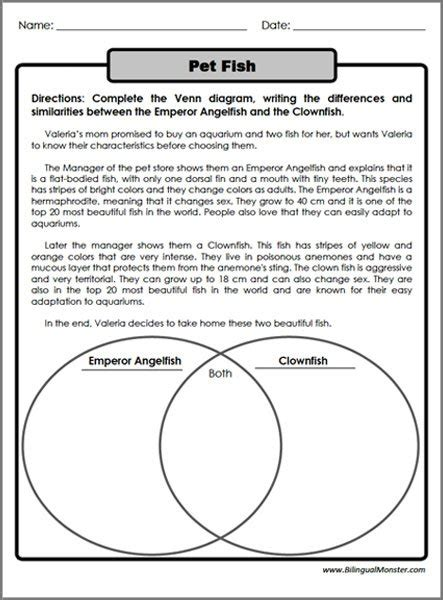 4th grade compare and contrast worksheets worksheets for all free worksheets sles