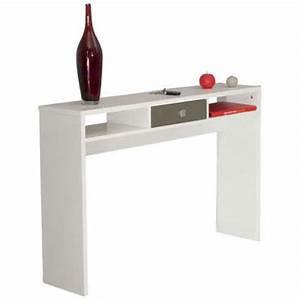 console coloris blanc taupe vente de console conforama With tapis couloir avec housse canapé d angle friheten