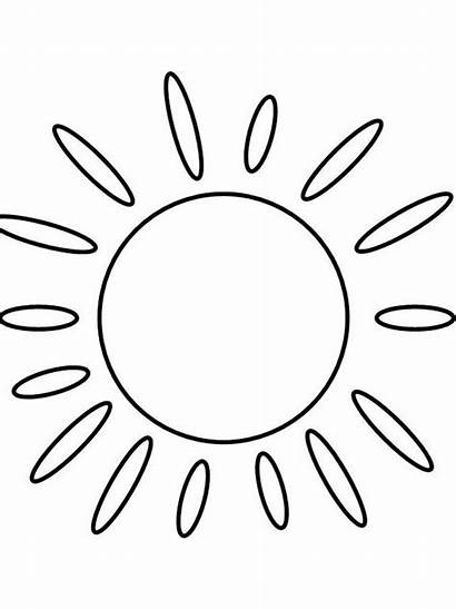 Sun Coloring Pages Bright Printable Capri Choose