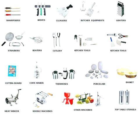 Kitchen Equipment Names And Uses by Kitchen Utensils Names And Uses Worksheet Wow