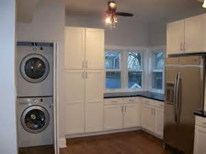 Antique White Kitchen Island Stackable Washer Dryer Laundry Room Traditional With Built In Cabinets Ceiling Beeyoutifullife