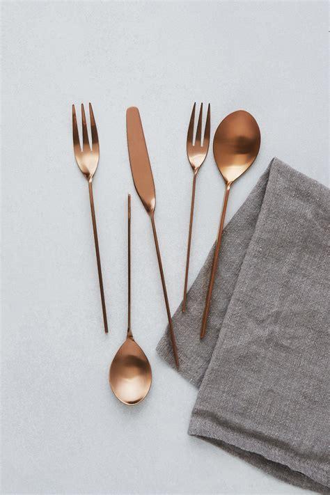 copper silverware flatware kitchen