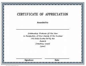 30 free certificate of appreciation templates and letters With template for a certificate of appreciation