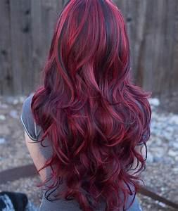 Acheter Coloration Rouge Framboise : lucy fiery red long wavy wig with lowlights by luxloxs on etsy couleur de cheveux en 2019 ~ Melissatoandfro.com Idées de Décoration