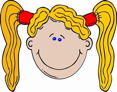 Cartoon Hair Clipart Yellow Clip Longhair Blonde