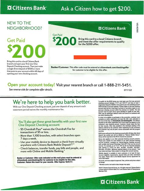 [expired] Citizens Bank $200 Checking Bonus [targeted. Leadership Programs For College Graduates. Roswell Rehabilitation Center. Certificate Dental Assisting Epipen 0 3 Mg. Roofing Contractors Houston Tx. Ivy Tech Campus Connect Paris Hotel Trocadero. One Reliant Park Houston Tx 77054. Construction Crew Scheduling Software. Chiropractor Crystal Lake Il