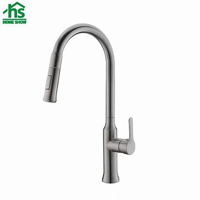 Faucet Kitchen Neck Pull Sus Brushed Surface