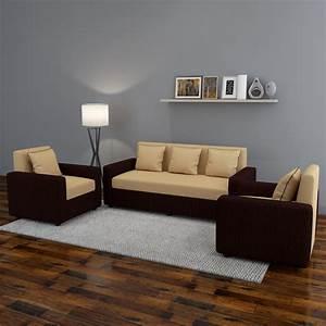 3 2 1 Sofa Set : bharat lifestyle tulip311 fabric 3 1 1 brown sofa set price in india buy bharat lifestyle ~ Markanthonyermac.com Haus und Dekorationen