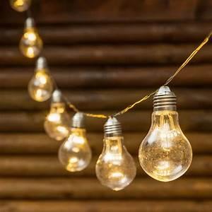 Guirlande Lumineuse Ampoule : guirlande guinguette 5 m 10 ampoules miniled blanc chaud c ble vert guirlandes d coratives ~ Teatrodelosmanantiales.com Idées de Décoration