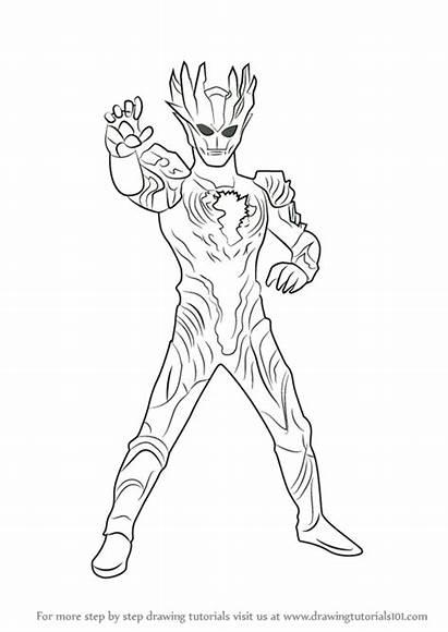 Ultraman Gambar Zero Mewarnai Coloring Orb Mewarna