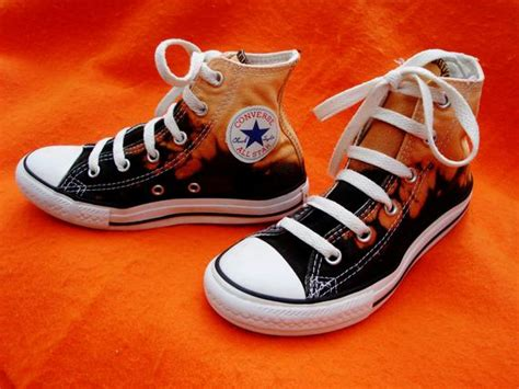 Items Similar To Black Converse High Top Dip Bleached