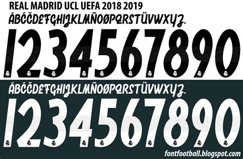 Font Vector Real Madrid Ucl Uefa 2018 2019 Kit