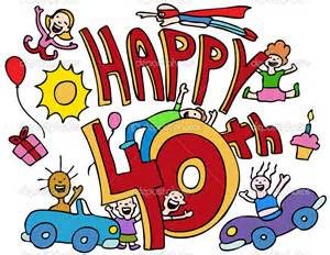 Happy 40th Birthday Clip Art Free