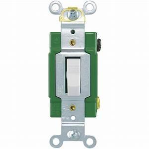 Single Pole Light Switch White
