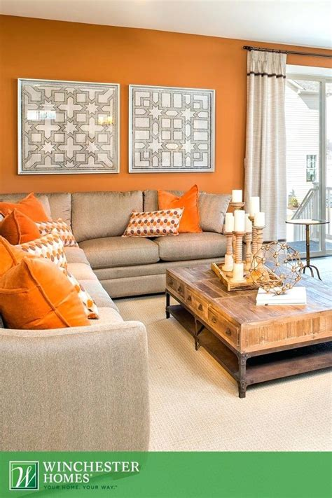 Burnt Orange And Light Green Living Room  Modern Home