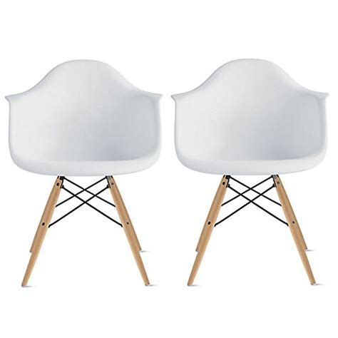 2xhome set of 2 dining arm chair set white solid wood