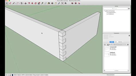 box joint woodworking   subtract tool  sketchup