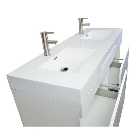 modern double sink vanity buy 57 inch modern double sink vanity set in glossy white