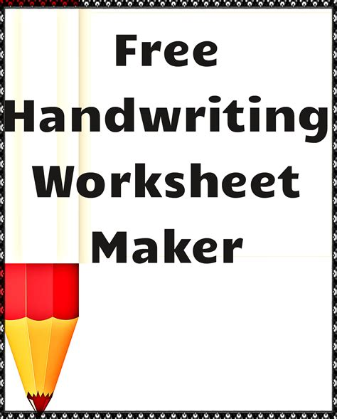 free handwriting worksheets maker handwriting worksheet maker free classroom tools