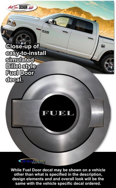 challenger fuel door dodge challenger simulated billet style fuel door decal 2