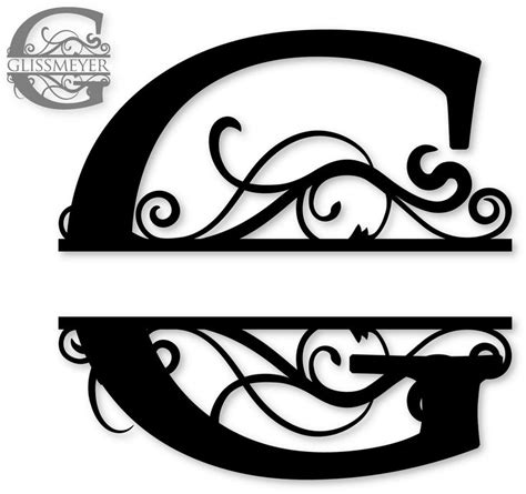 """I thought this would look great with gold foil on a black tote. """"G"""" Split Monogram 
