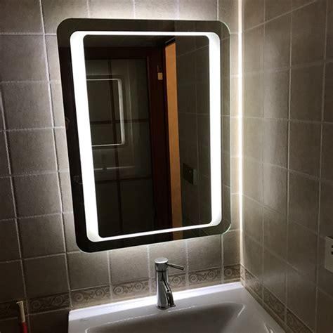 Large Illuminated Bathroom Mirror by Modern Large Heated White Led Illuminated Bathroom Mirror