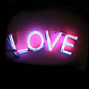 colorful, love, neon light, sign, tumblr - image #4032451 ...